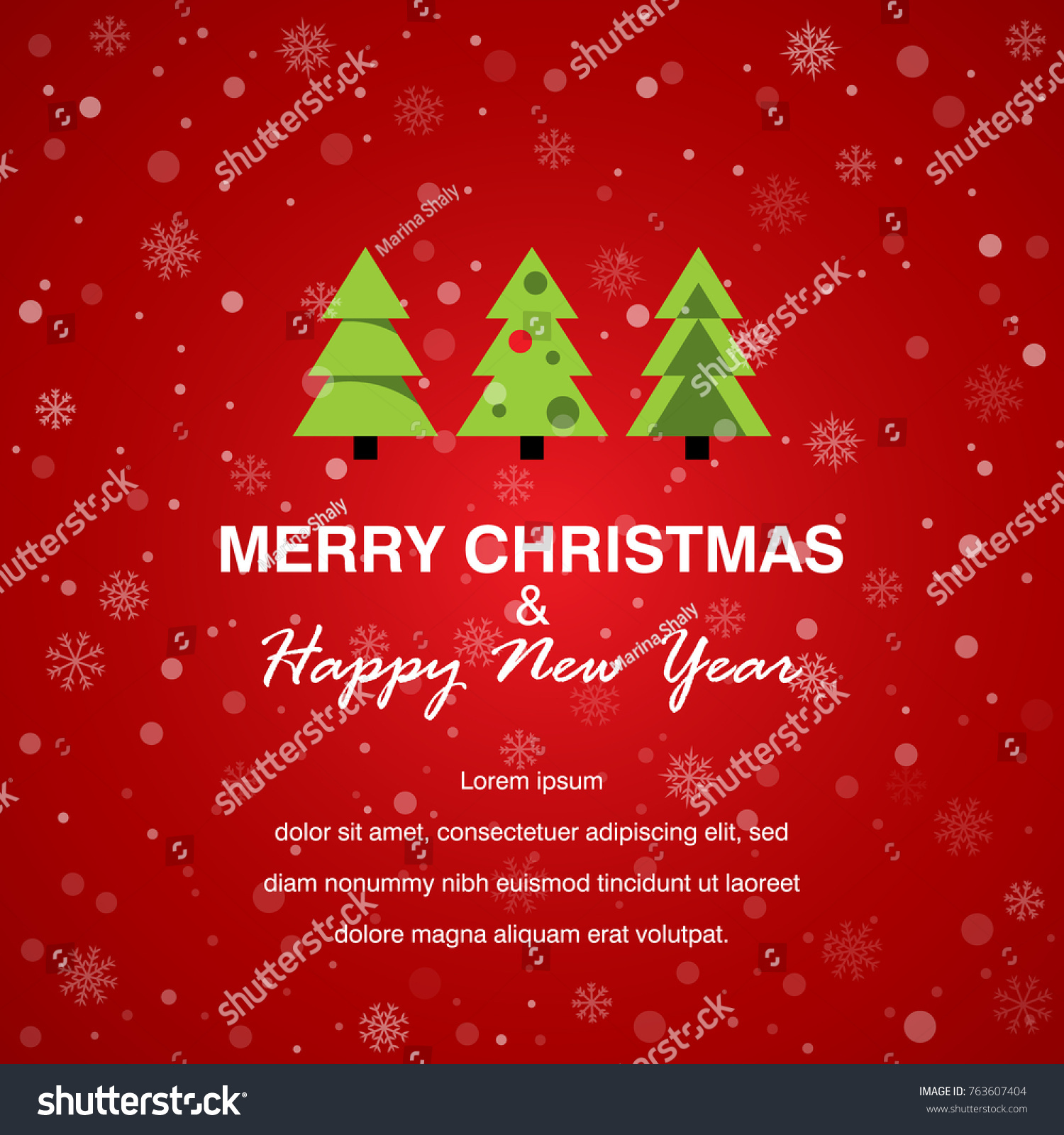 Merry christmas happy new year card stock vector royalty free merry christmas and happy new year card vector illustration flat simple style holiday m4hsunfo