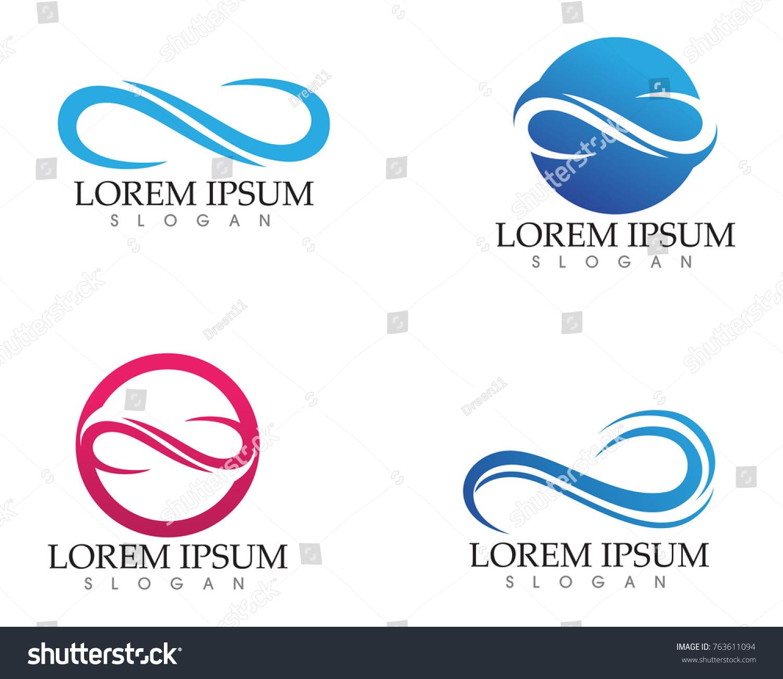 Infinity Logo Symbol Template Icons App Stock Vector 763611094
