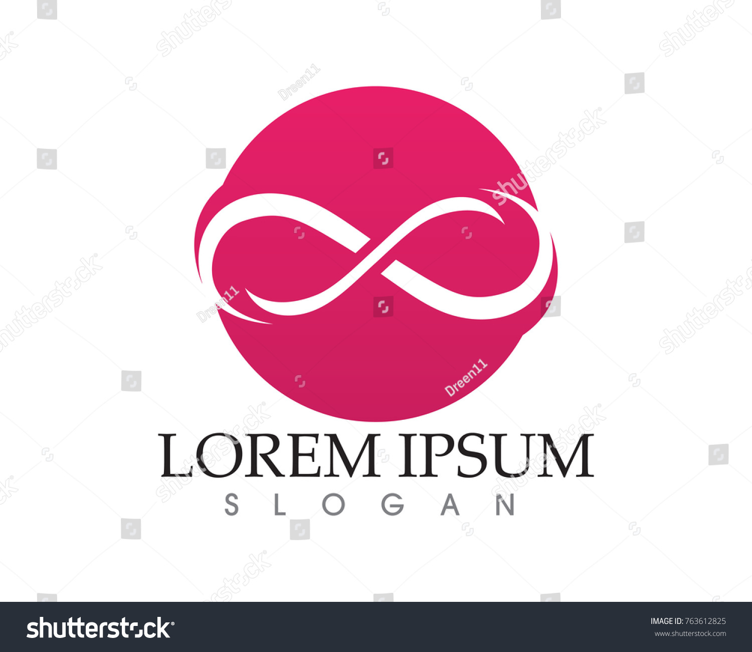 Infinity Logo Symbol Template Icons App Stock Vector Royalty Free