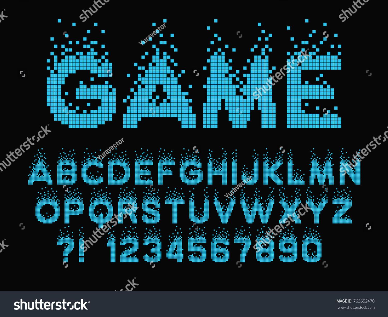 retro game font