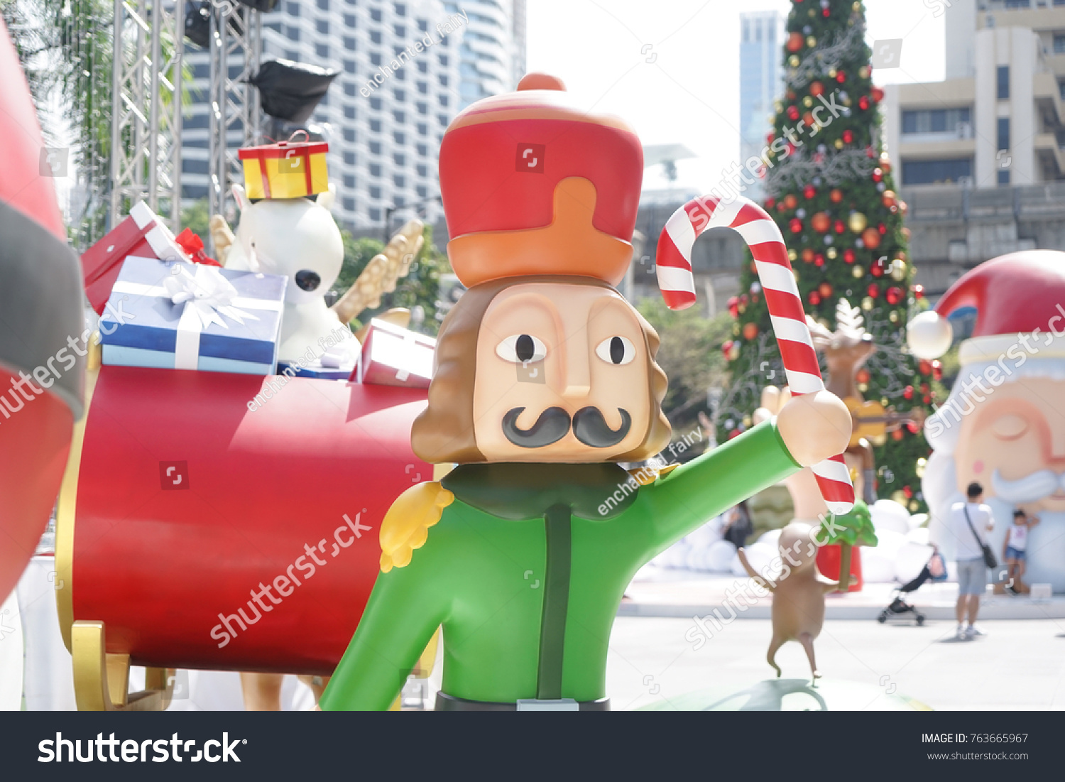 christmas decorations nutcracker holding lollipop cartoon fiberglass for christmas decor outdoor - Fiberglass Christmas Decorations