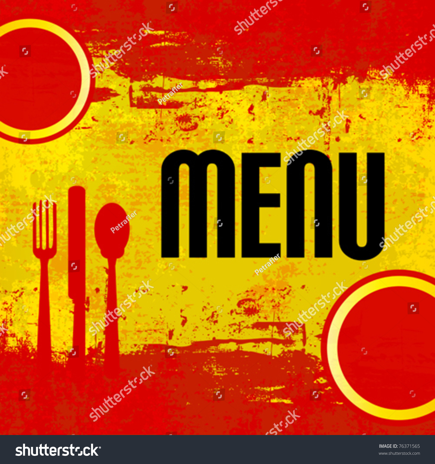 Spanish menu vector template over flag stock vector for Tapas menu template