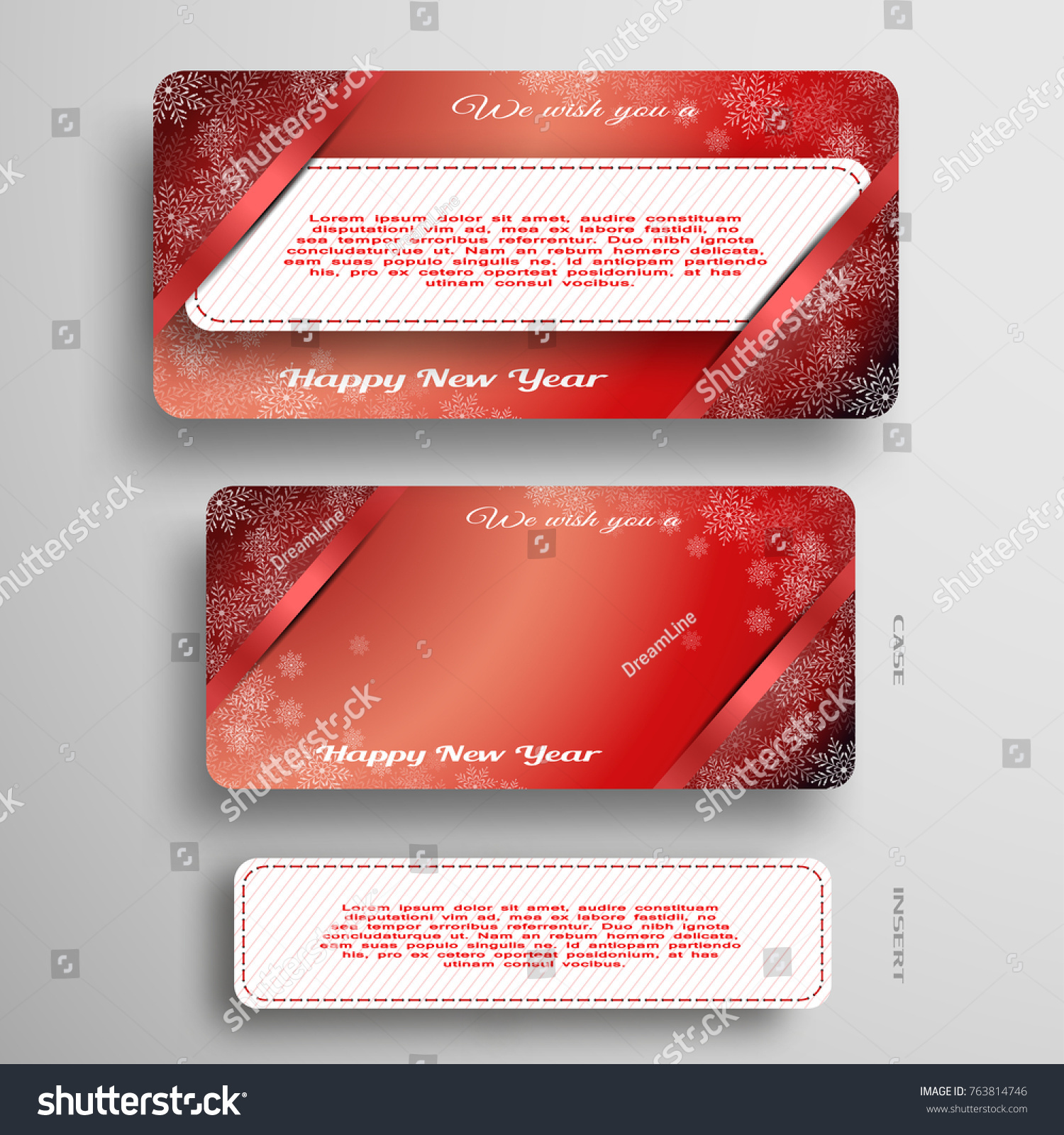 Vector Greetings Card Insert Cut Paper Stock Vector 763814746 ...