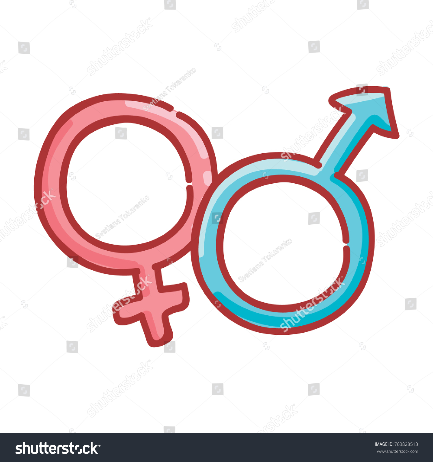 Cute male female gender signs symbols stock vector 763828513 cute male and female gender signs or symbols hand drawn illustration in vector cartoon buycottarizona Images