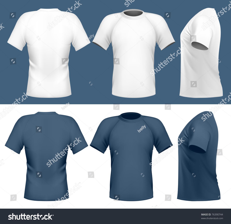 Vector Illustration Mens Tshirt Design Template Stock
