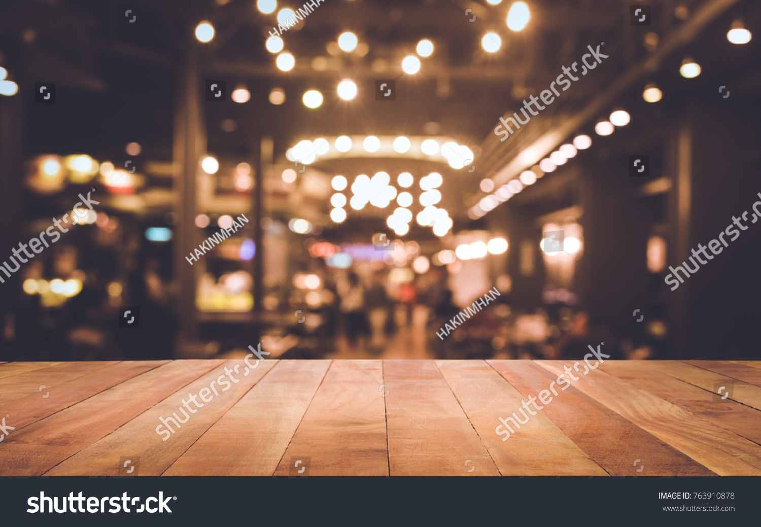 restaurant table top lighting. Wood Table Top (Bar) With Blur Light Bokeh In Dark Night Cafe,restaurant Restaurant Lighting N