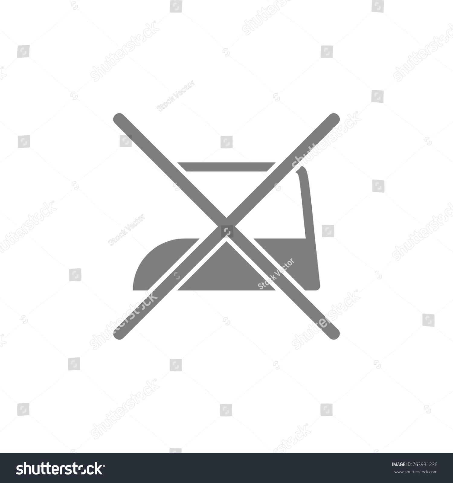 Do Not Iron Web Element Premium Stock Vector 763931236 Shutterstock