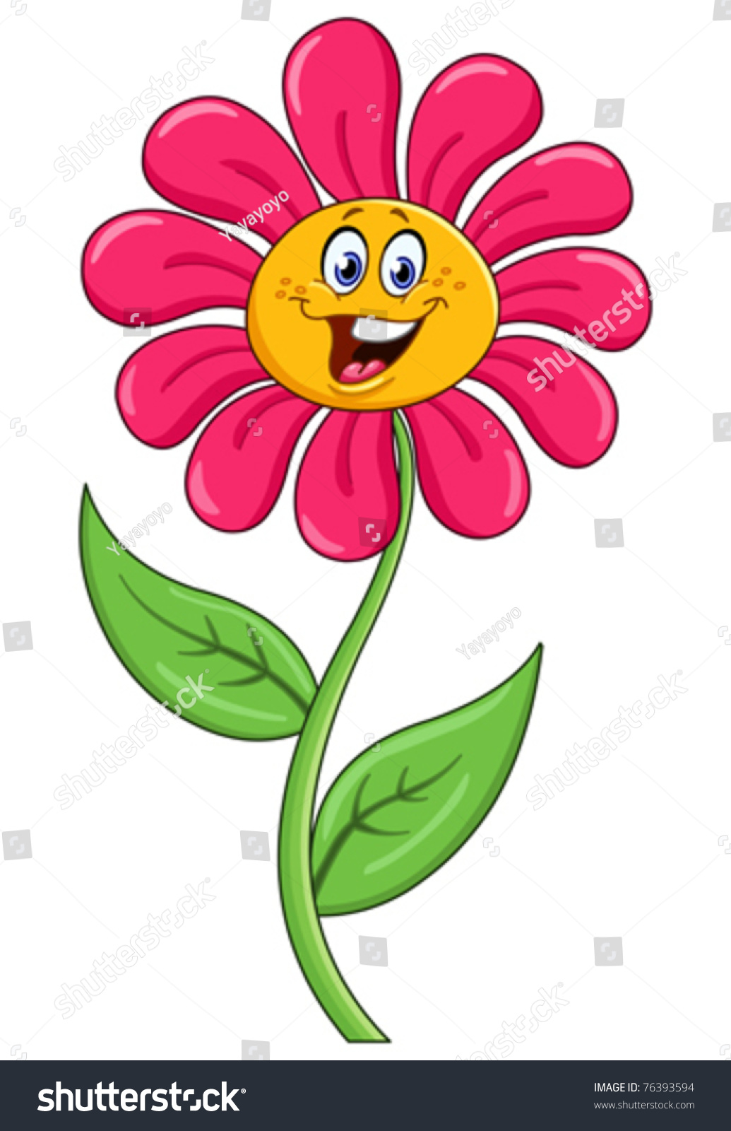 Cartoon Flower Stock Vector Royalty Free 76393594 Shutterstock