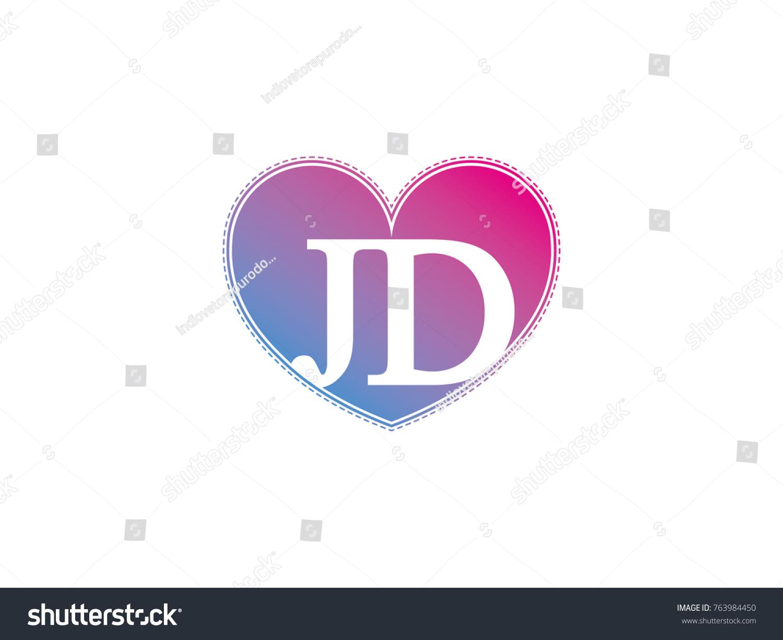 initial letter jd heart symbol logo stock vector royalty free 763984450 https www shutterstock com image vector initial letter jd heart symbol logo 763984450