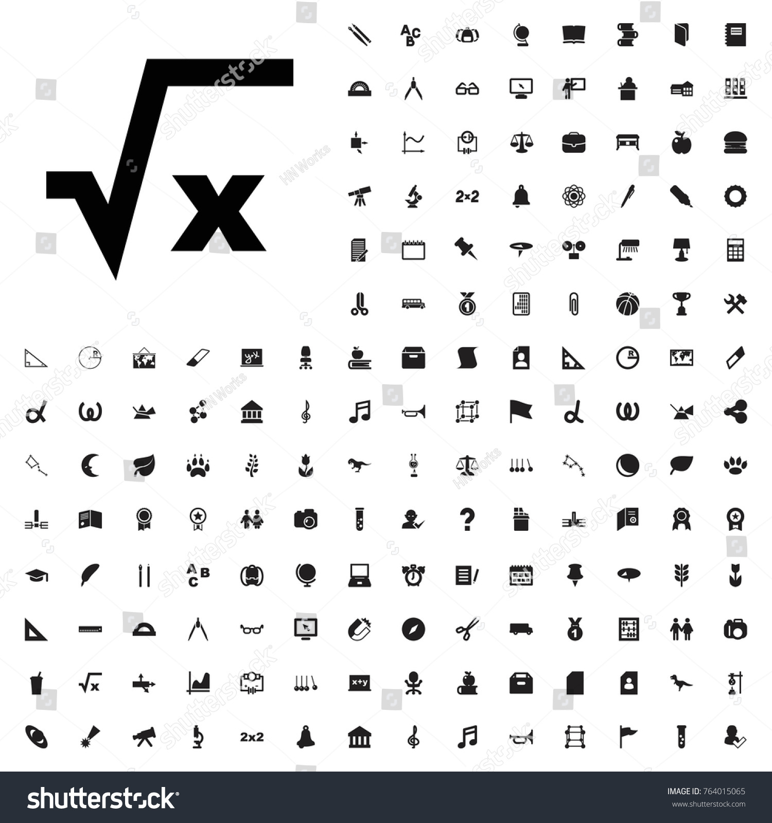 Square Root Icon Illustration Isolated Vector Stock Vector Royalty