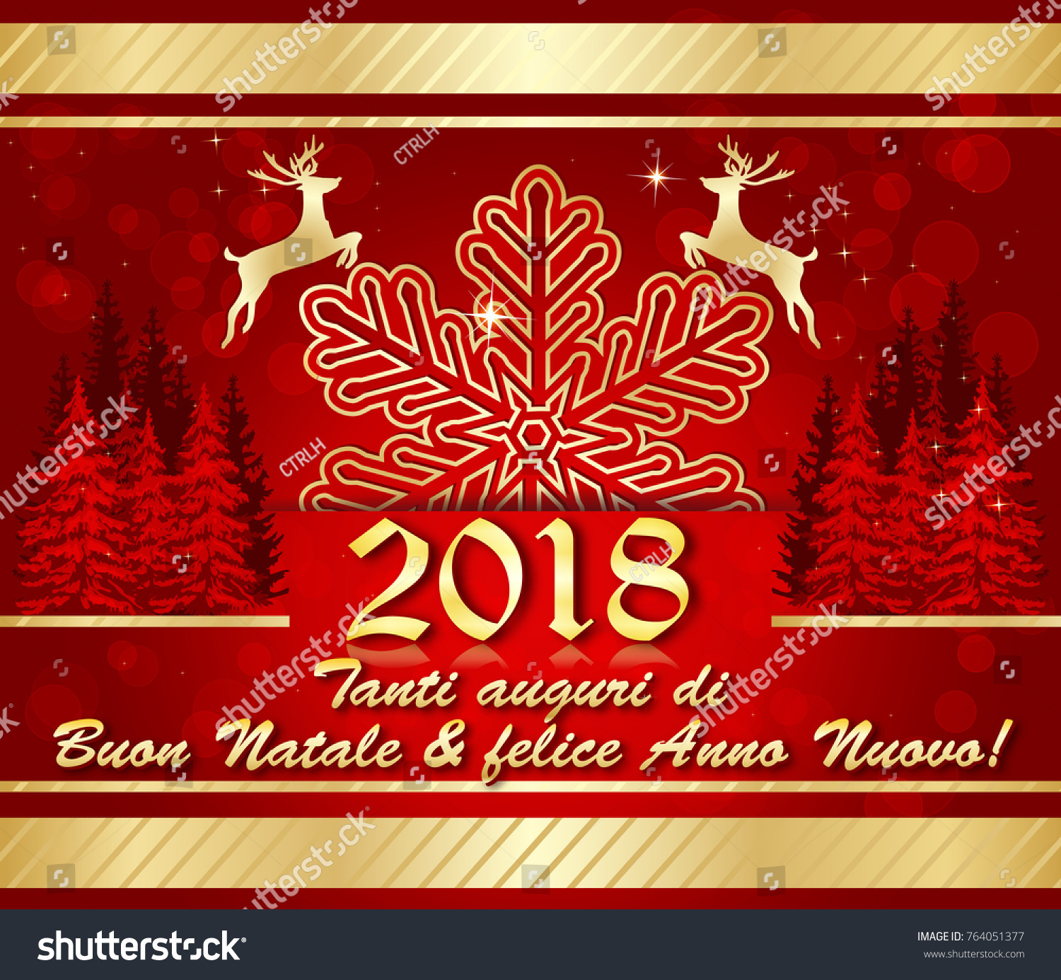 2018 Italian Corporate Holiday Season Greeting Stock Illustration