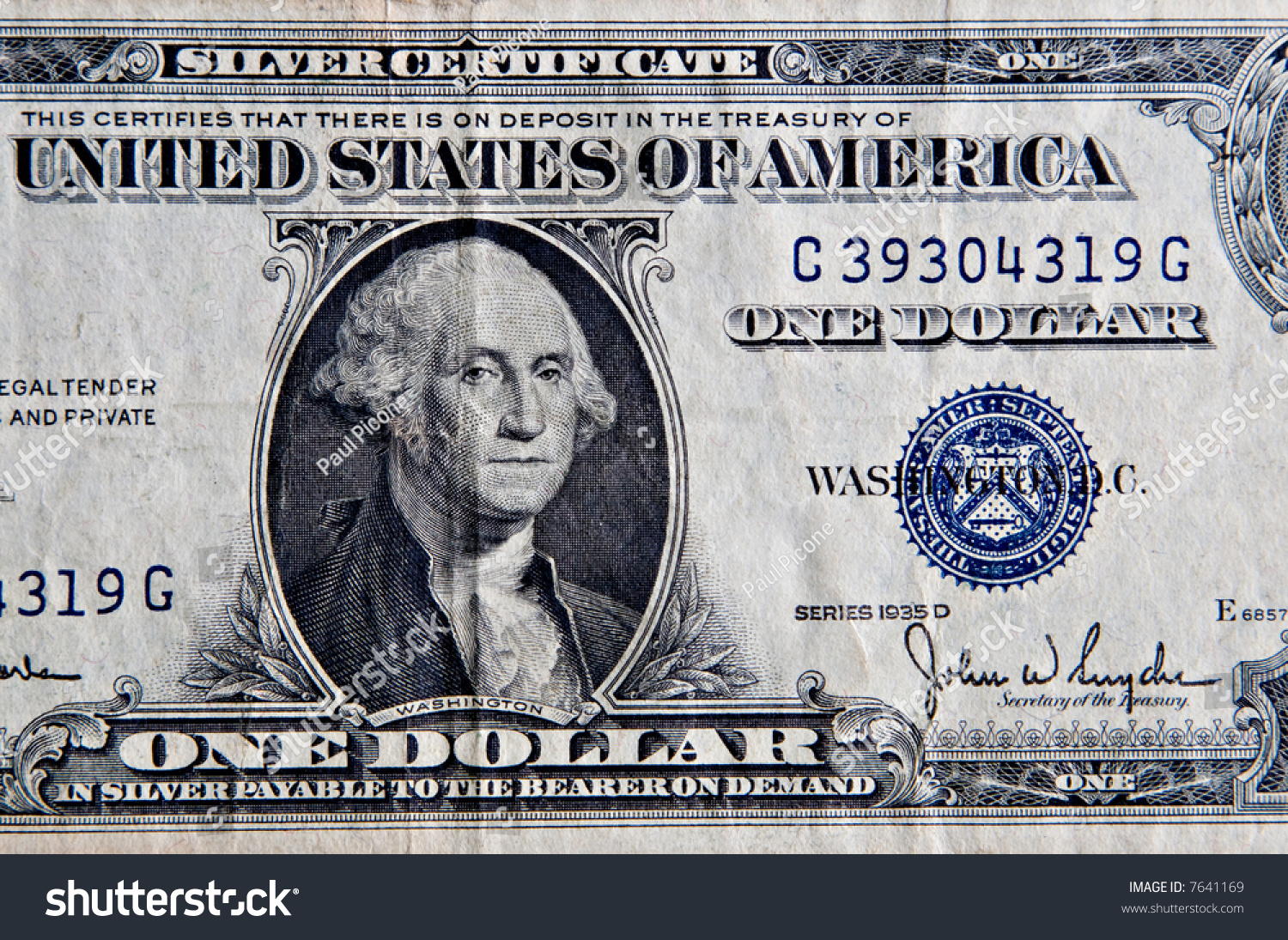An Old One Dollar United States Silver Certificate Ez Canvas