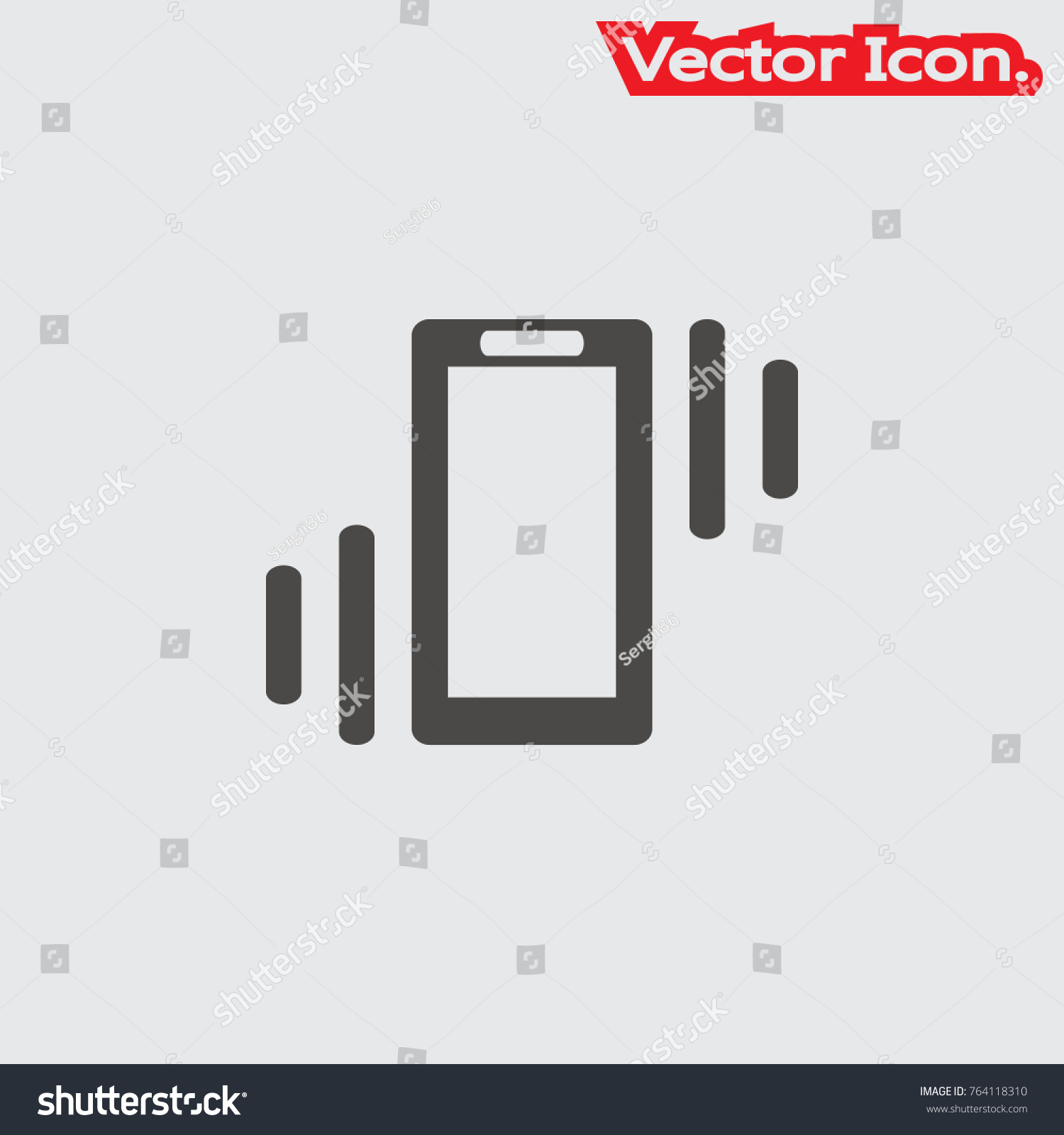Phone Vibration Icon Isolated Sign Symbol Stock Vector 764118310 ...