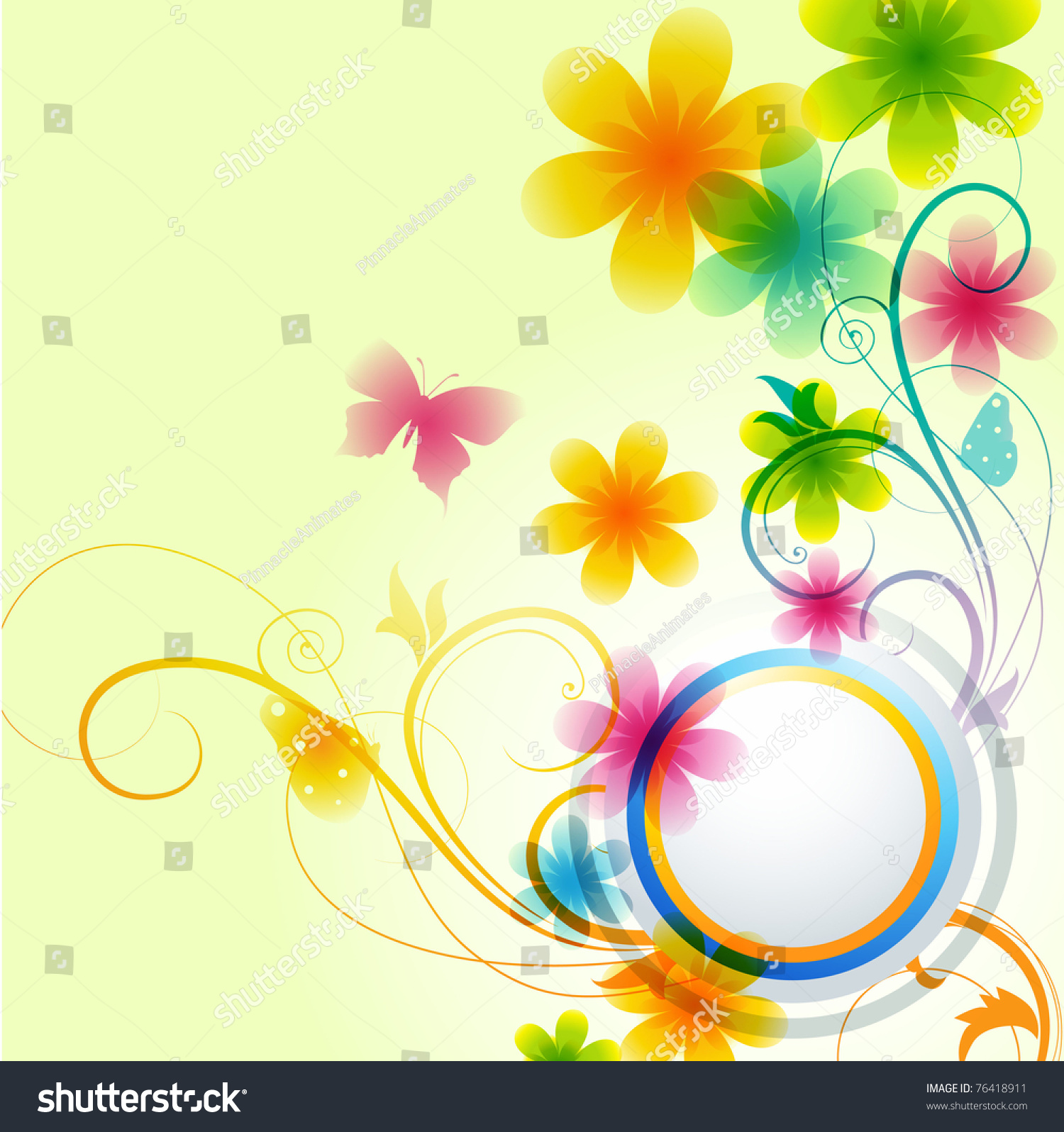 Beautiful Flower Background Design Vector Stock Vector Royalty Free