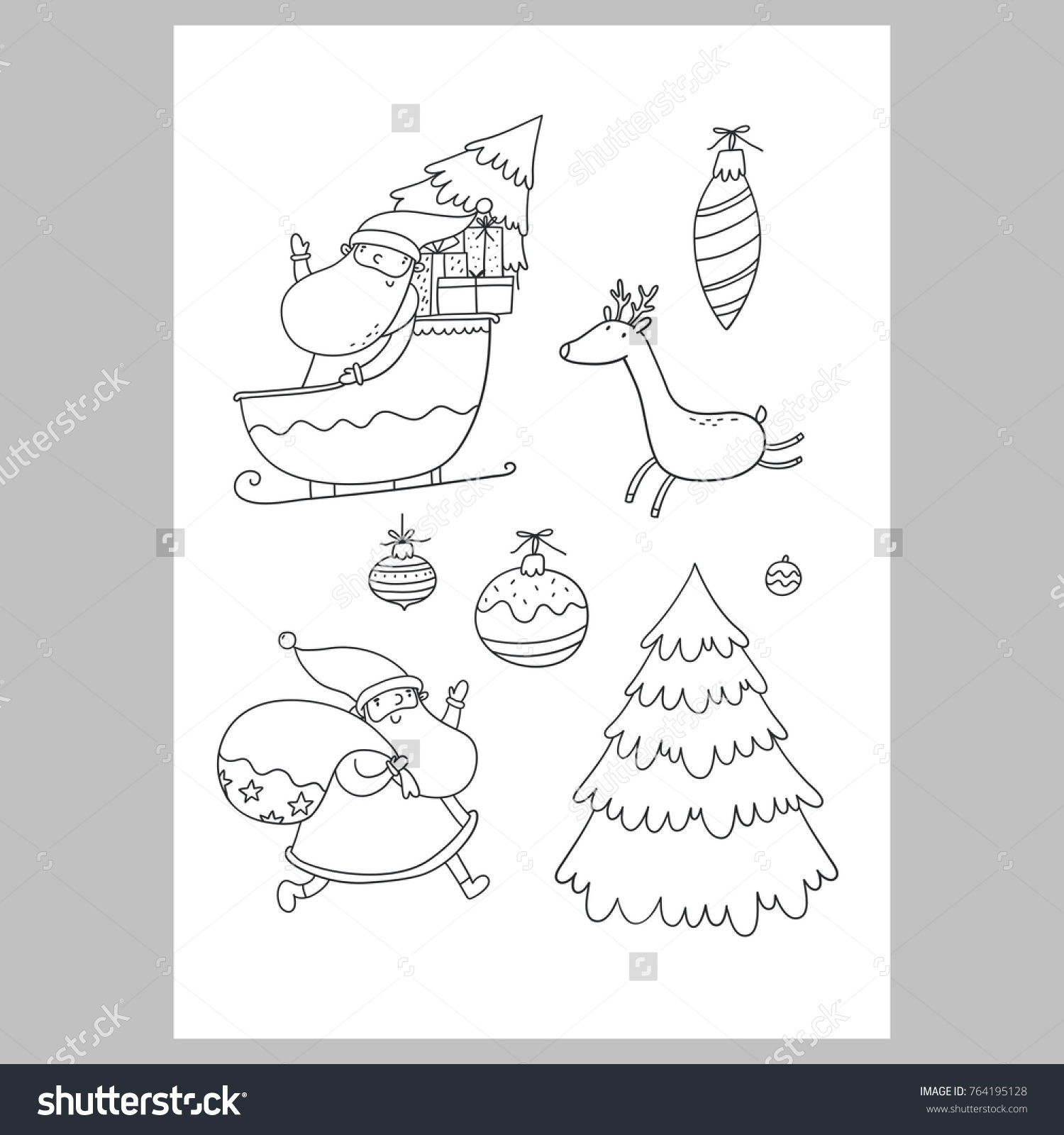Christmas Coloring Pages List Template - Worksheet & Coloring Pages