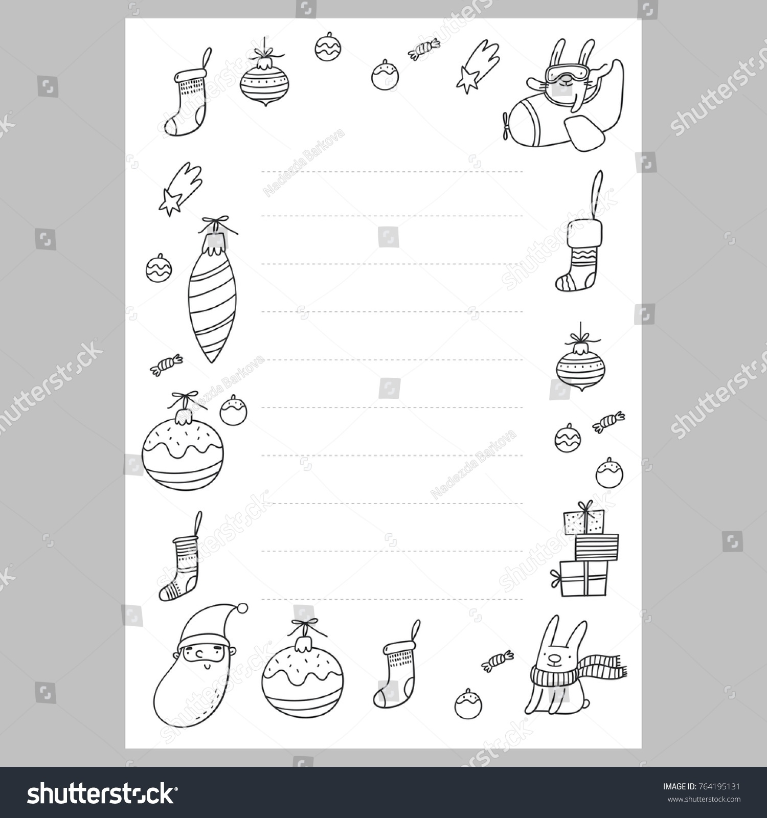 christmas wish list with santa a letter to santa template