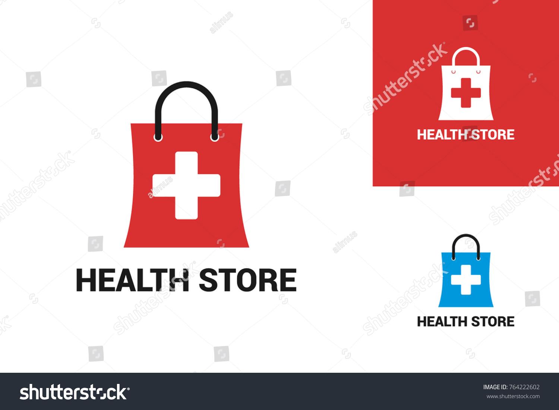 Medical Store Logo Template Design Stock Vector Royalty Free
