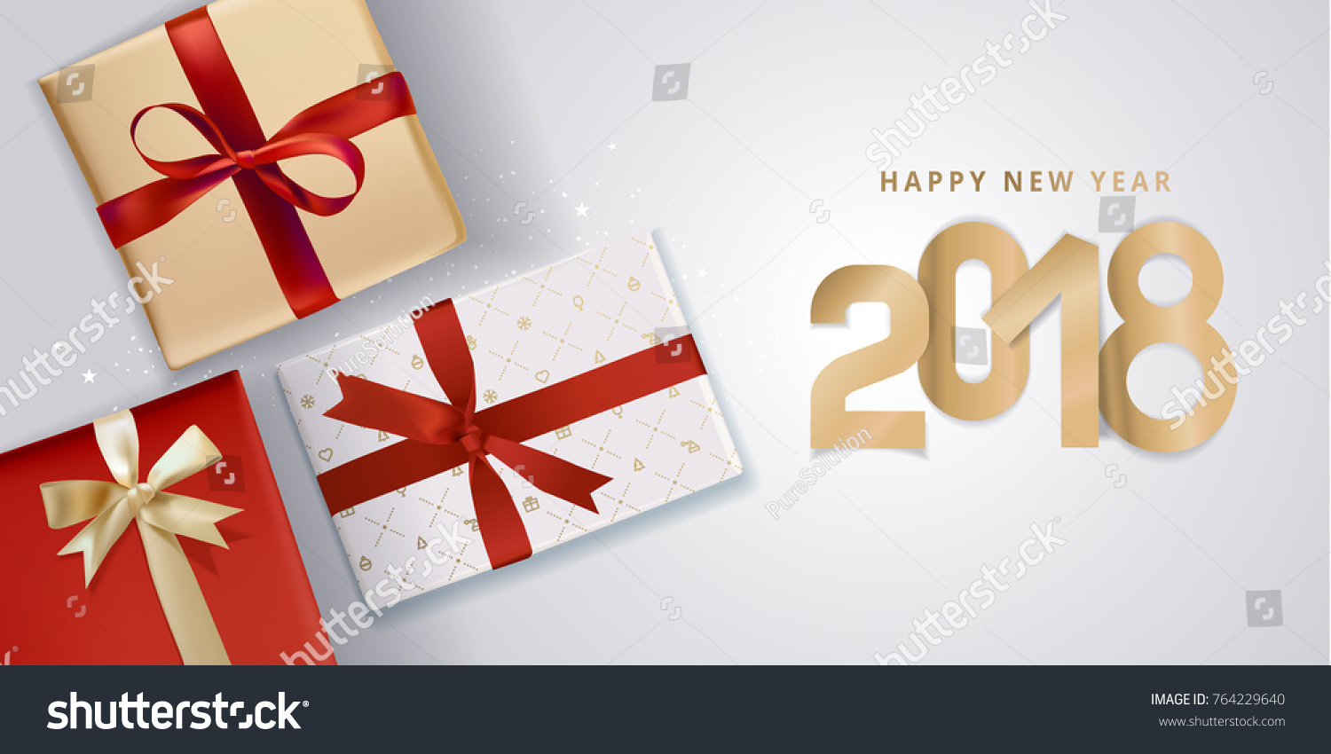 New year greeting card vector illustration stock vector royalty new year greeting card vector illustration concept for greeting cards website and mobile banners m4hsunfo