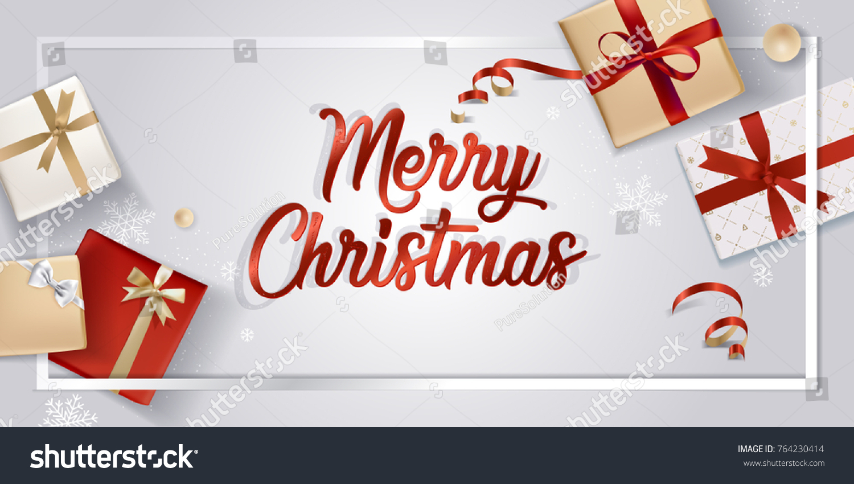 Elegant Christmas Greeting Card Vector Illustration Stock Vector