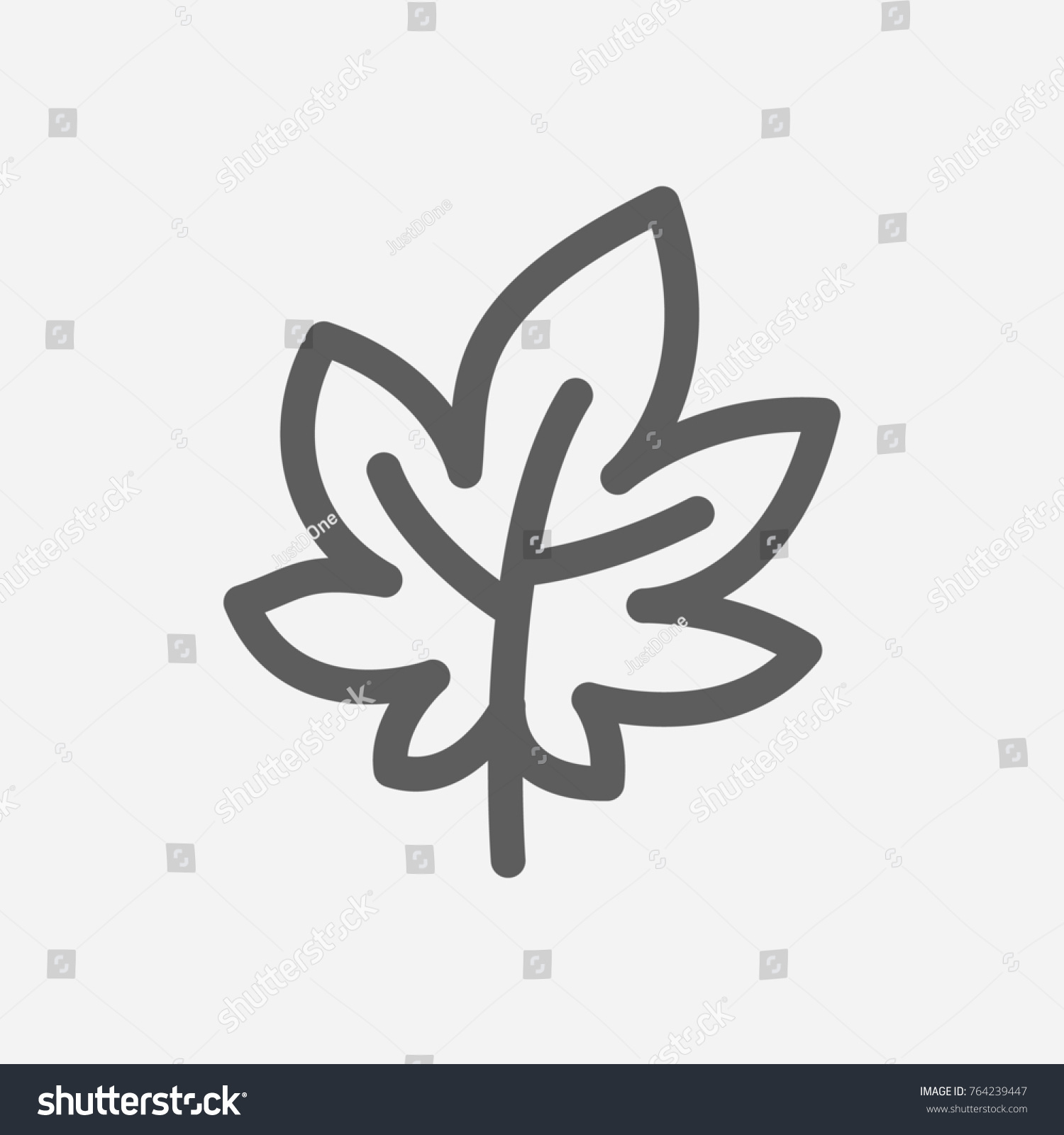 Maple Line Icon Isolated Symbol On Stock Illustration 764239447