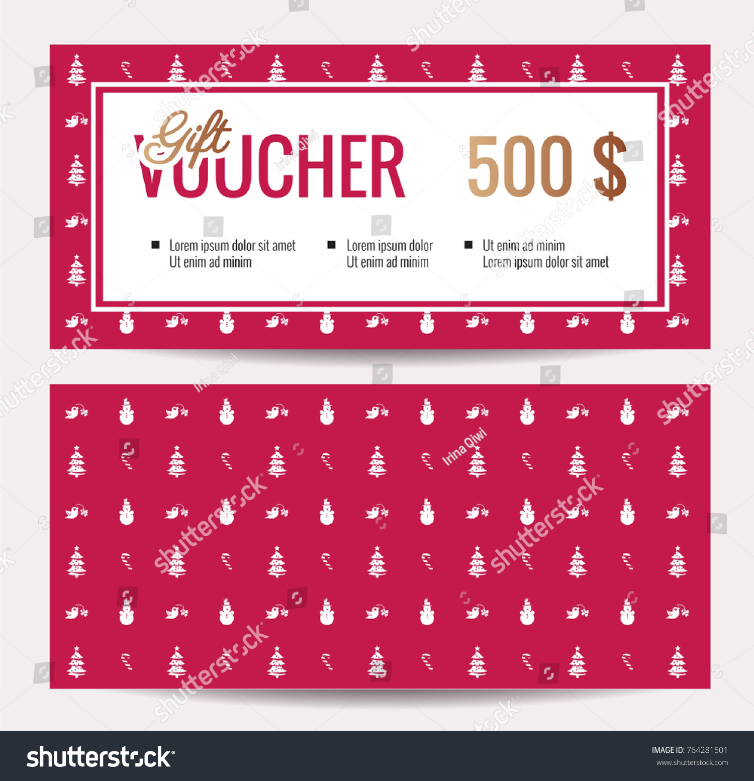 Christmas gift certificate template word general release template discount coupons templates modern word templates stock vector christmas gift voucher coupon discount gift certificate template for merry christmas shopping yadclub Image collections