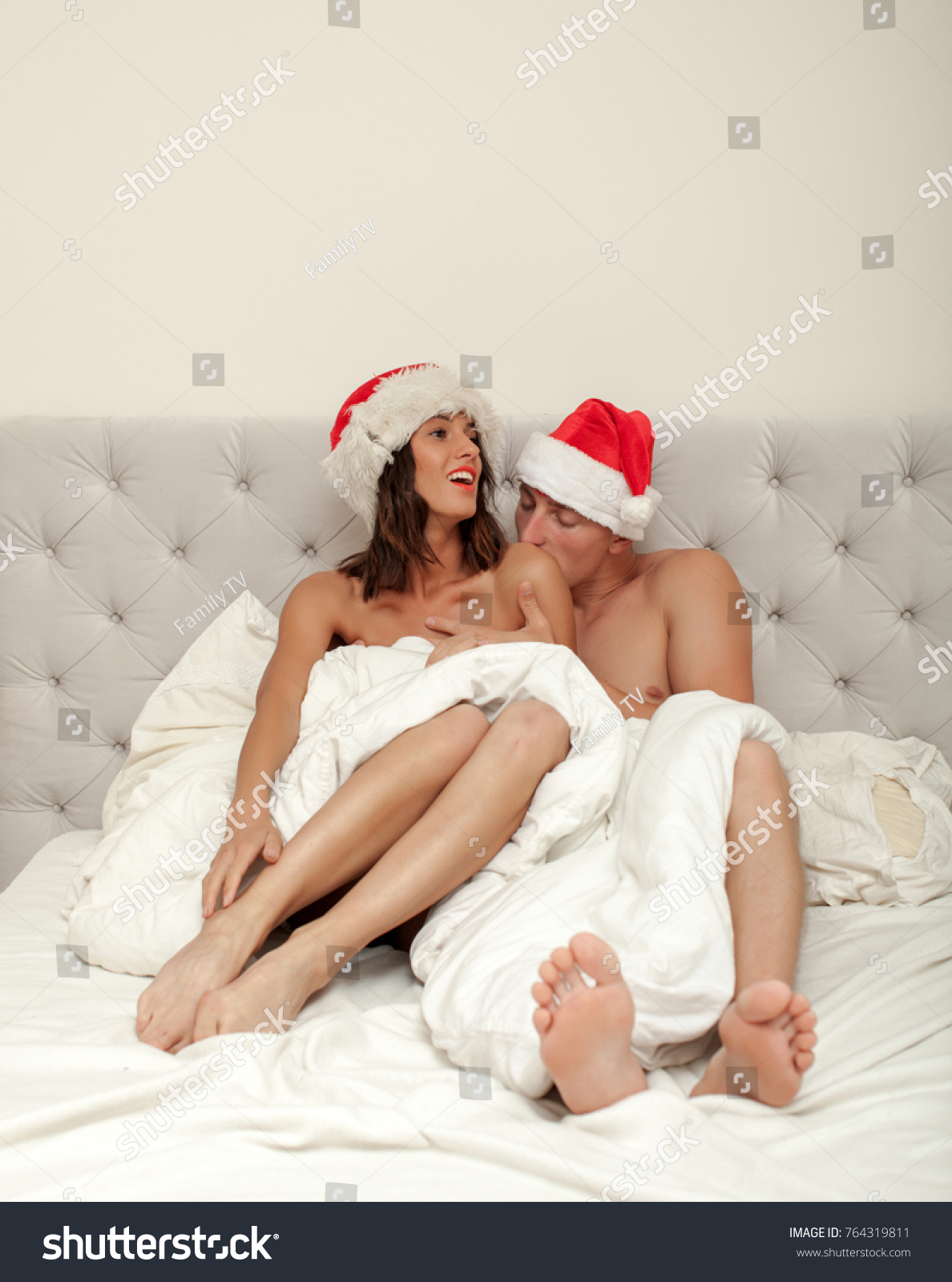 sexy woman having sex santa claus stock photo & image (royalty-free