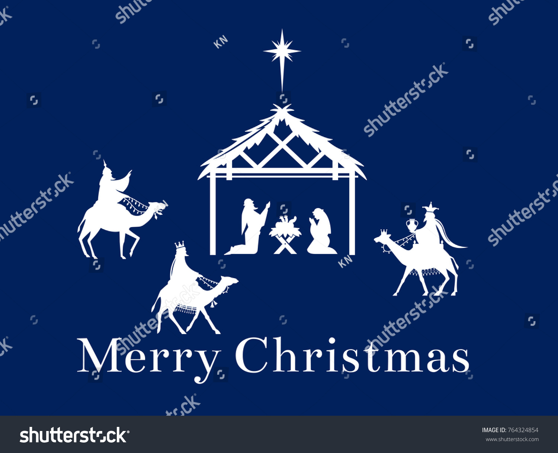 Birth Jesus Christ Bethlehem Magi Bear Stock Illustration 764324854 ...