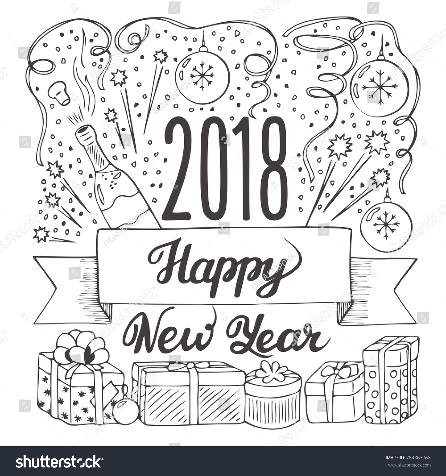 Happy New Year Doodle 6
