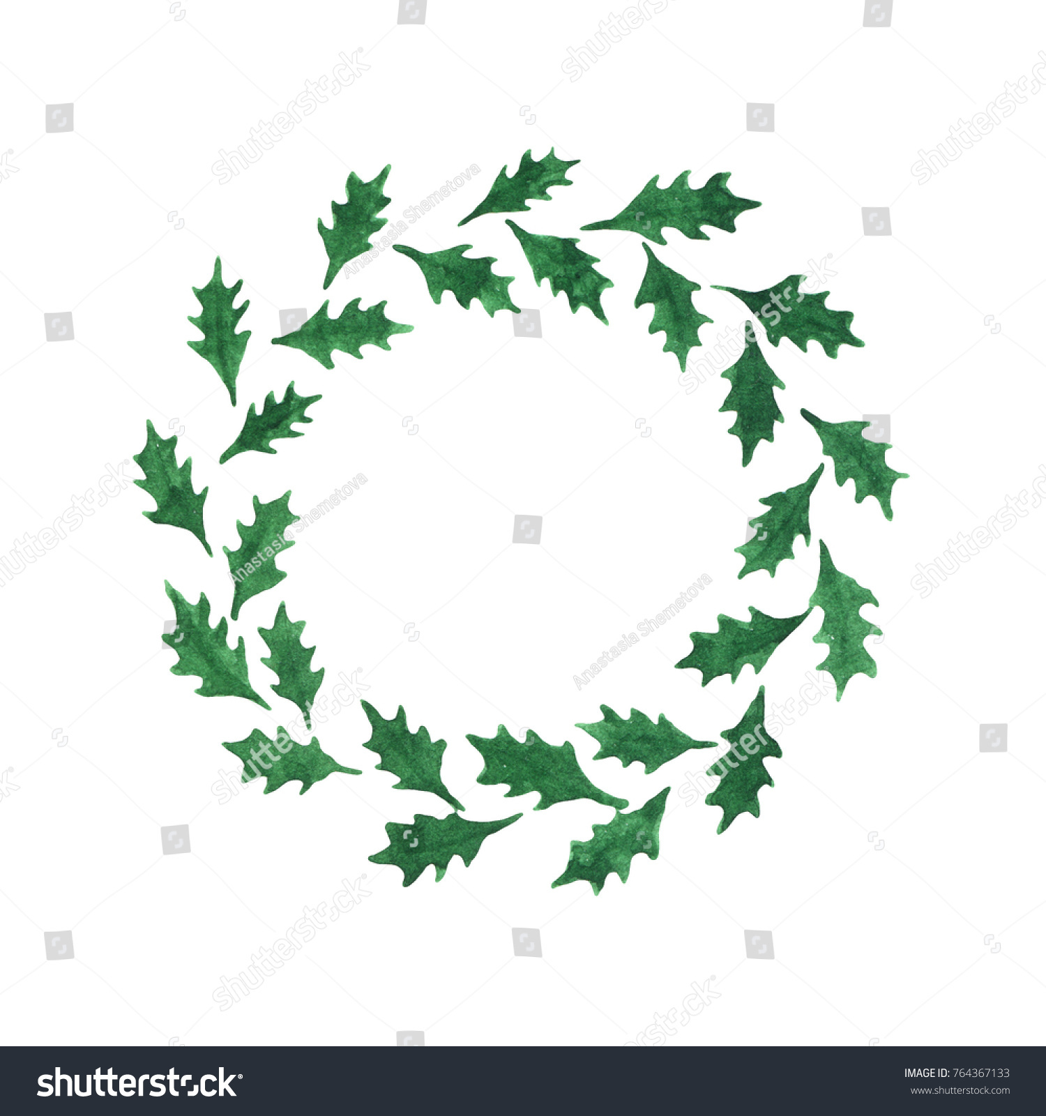Royalty Free Stock Illustration Of Abstract Watercolor Holly Leaves