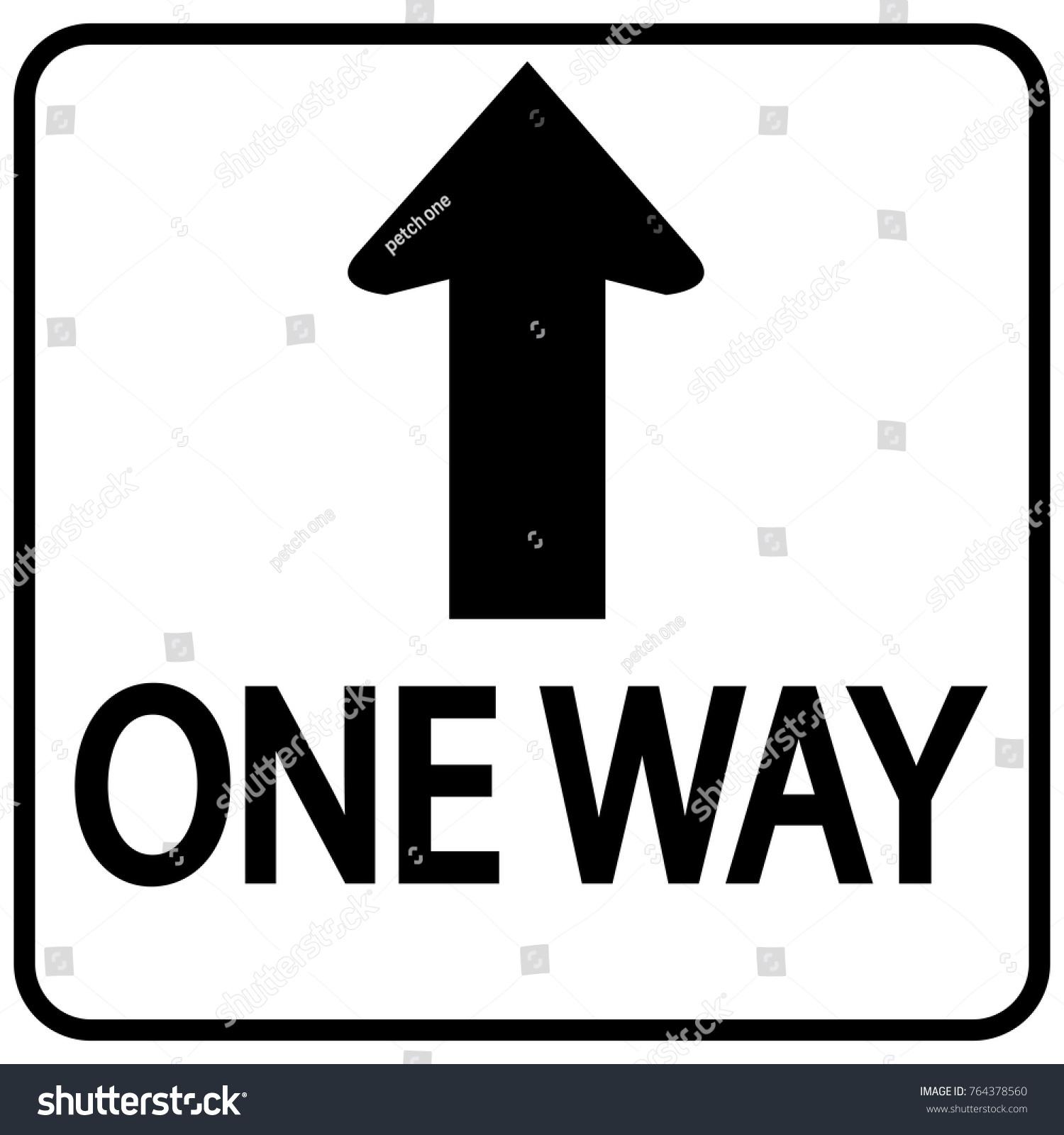 One Way Sign Stock Vector 764378560 Shutterstock