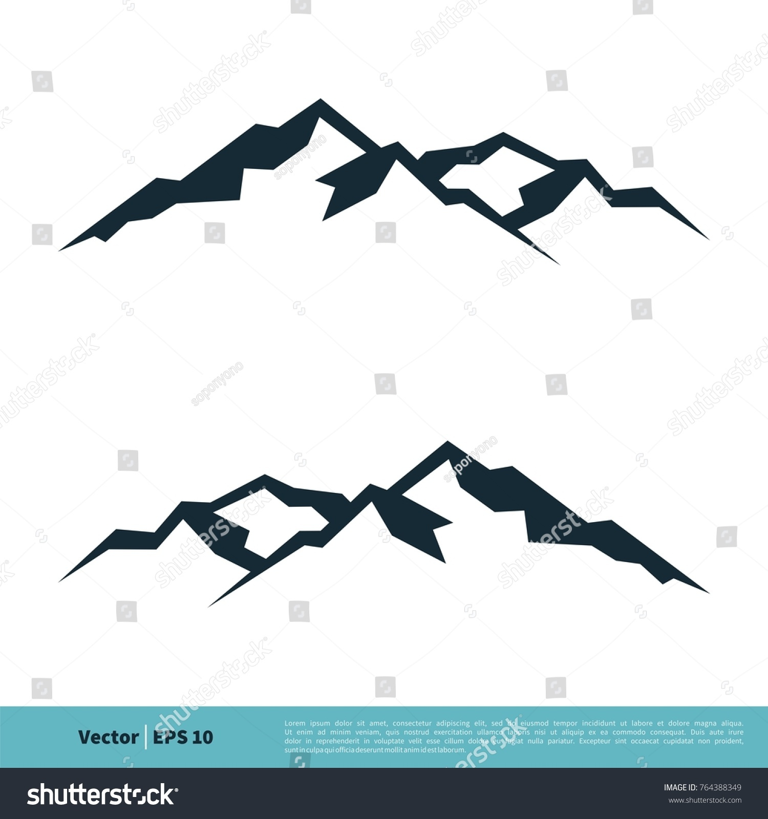 mountain volcano summit peak icon vector stock vector royalty free