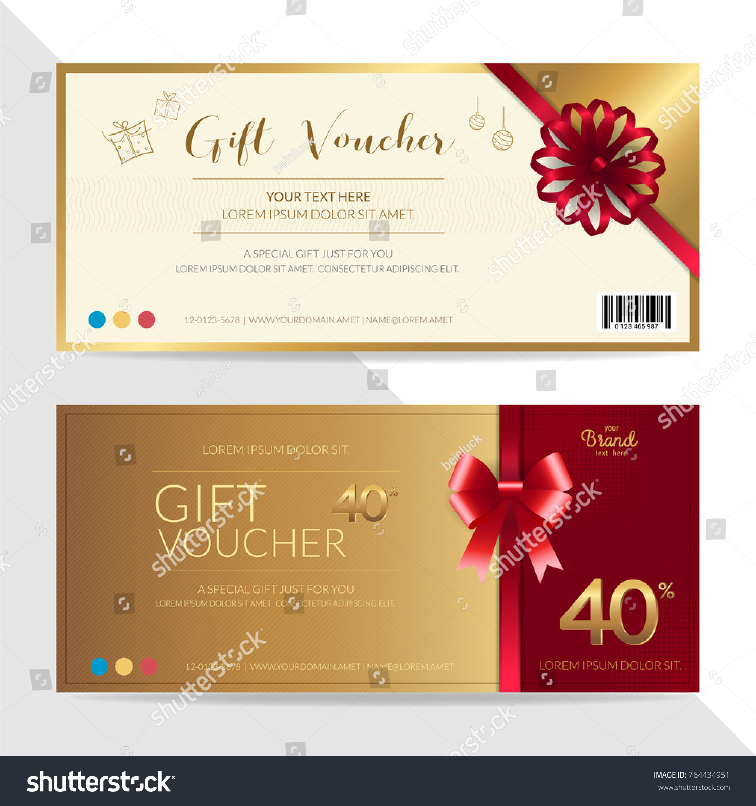 Gift Certificate Voucher Gift Card Cash Stock Vector (Royalty Free ...