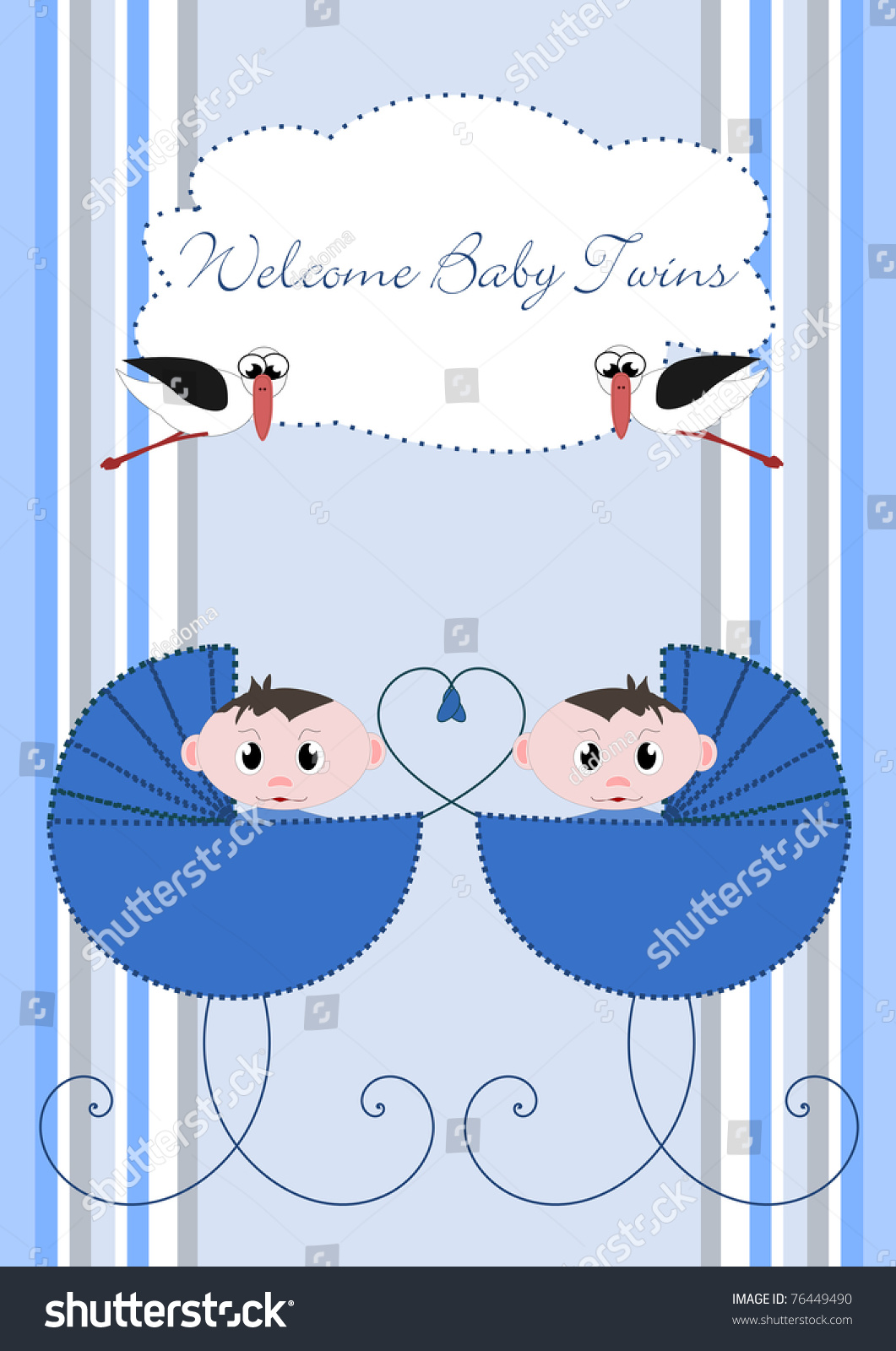 Welcome Baby Twins Stock Photo 76449490 Shutterstock