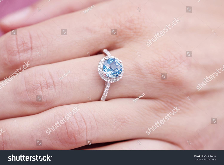 Engagement Ring On Female Hand Stock Photo 764542393 - Shutterstock