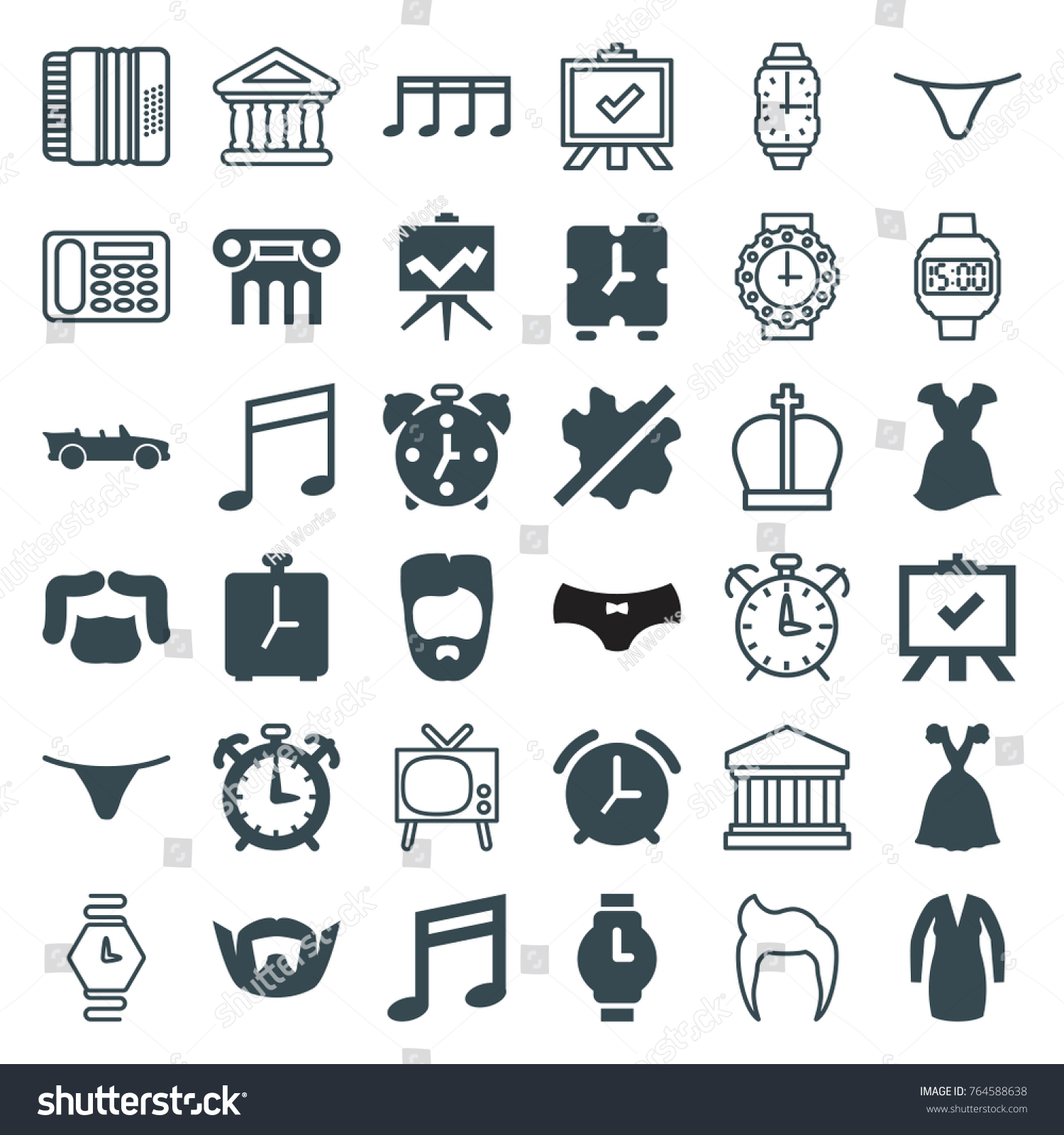 Set 36 classic filled outline icons stock vector 764588638 set of 36 classic filled and outline icons such as man hairstyle no wash biocorpaavc