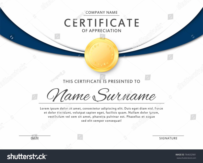 Certificate Template Elegant Black Blue Colors Stock-Vektorgrafik ...