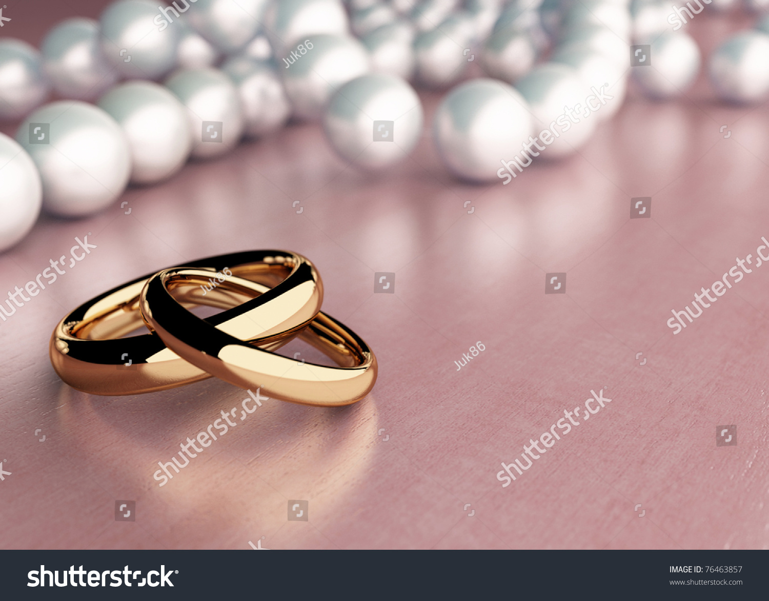 Two Golden Rings On Wood Table Stock Illustration 76463857 ...