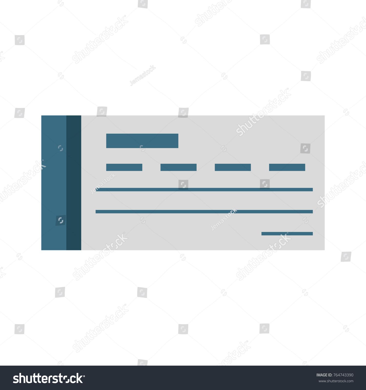 Bank Check Symbol Stock Vector 764743390 Shutterstock