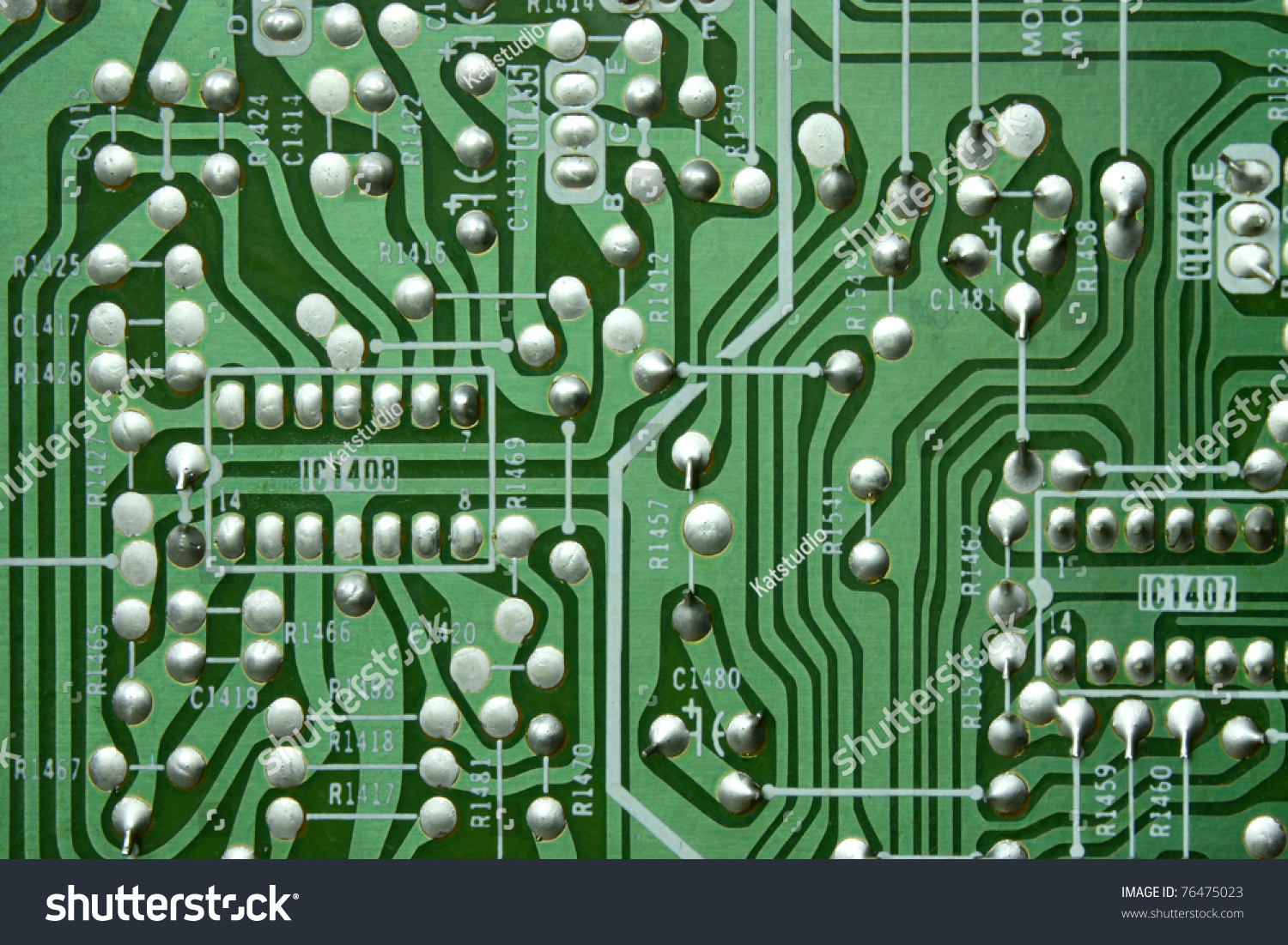 Green Old Circuit Board Electronic Texture Stock Photo Edit Now Electronics Royalty Free Image