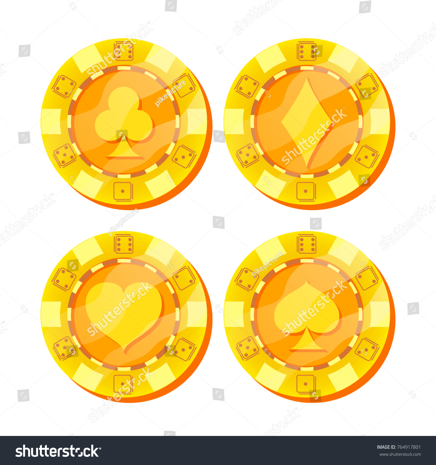 Gold poker chips vector : Play free casino slots games online 4 u