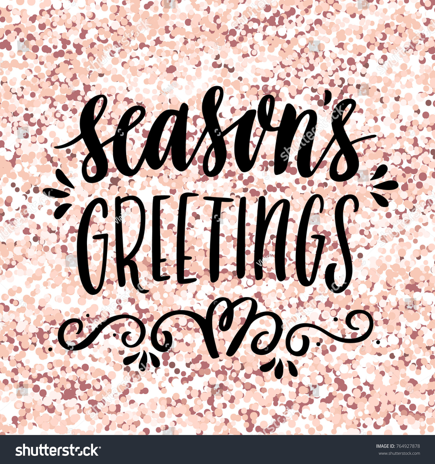 Handdrawing quote seasons greetings on pink stock vector 764927878 the hand drawing quote seasons greetings on a pink gold glitter background kristyandbryce Image collections