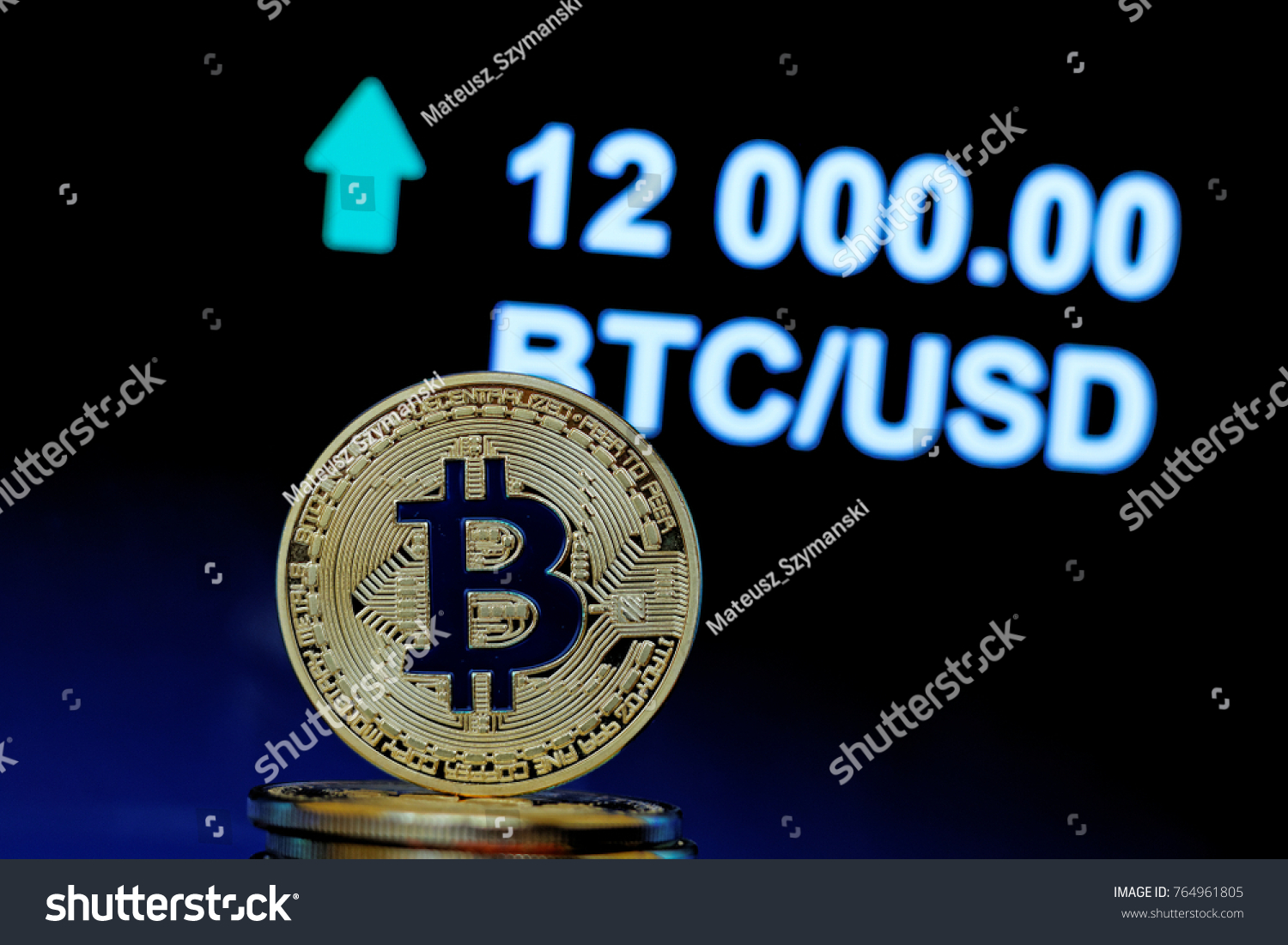 Concept bitcoin stock market price going stock photo 764961805 concept of bitcoin stock market price going up to twelve thousand us dollars 12000 biocorpaavc Images