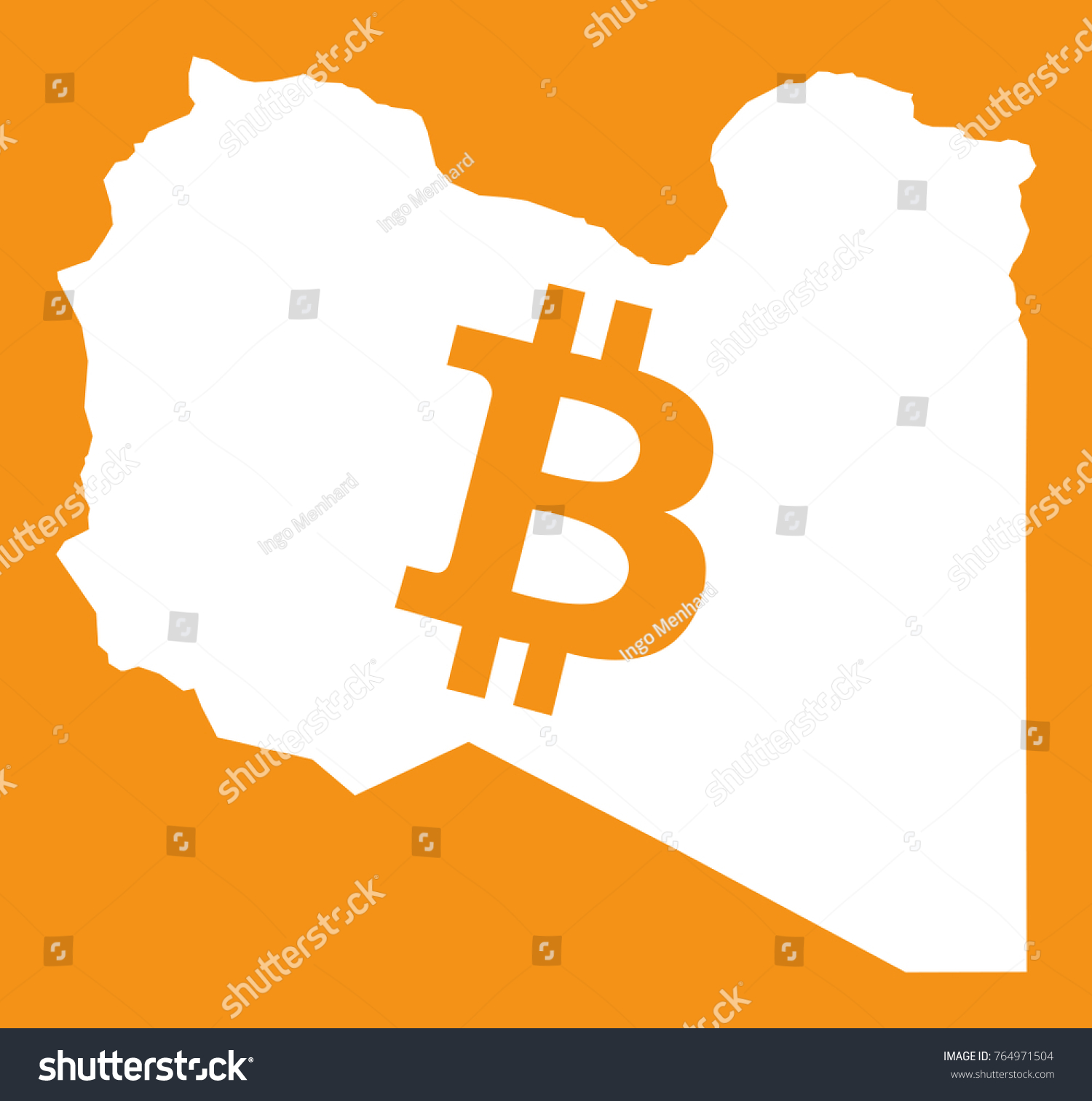 Libya map bitcoin crypto currency symbol stock vector 764971504 libya map with bitcoin crypto currency symbol illustration biocorpaavc Image collections