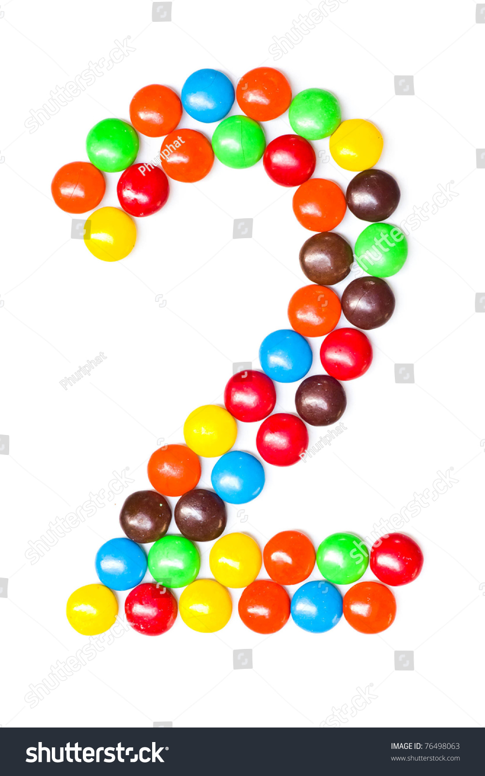 Colorful Candy Number 2 Stock Photo 76498063 - Shutterstock