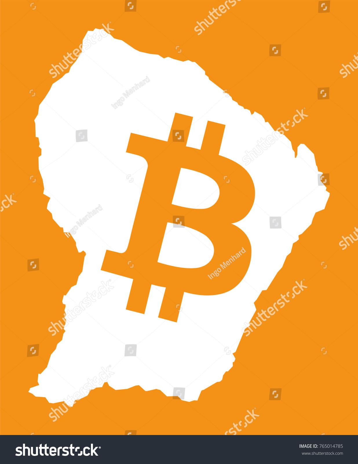 French Guiana Map Bitcoin Crypto Currency Stock Vector 2018