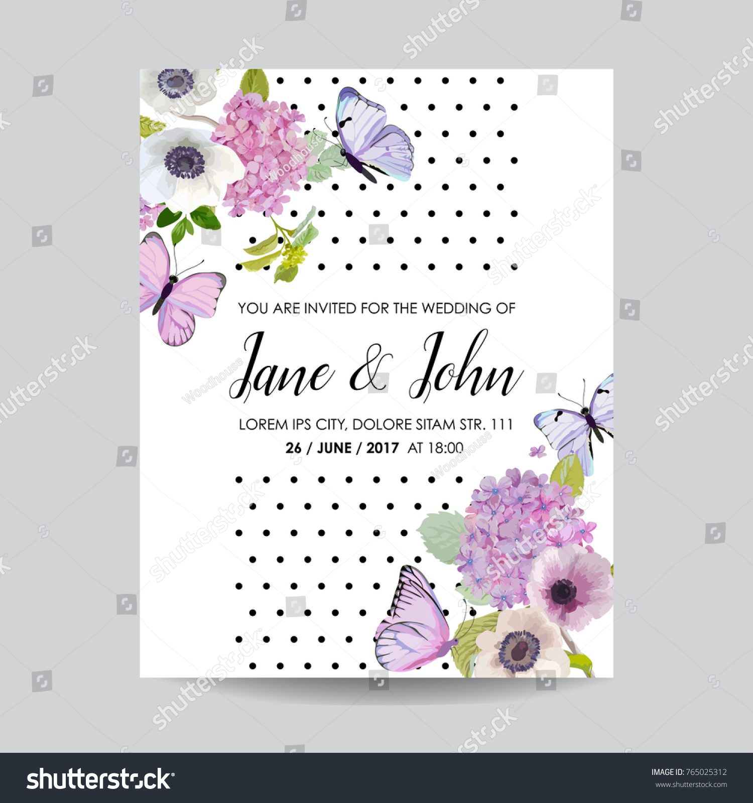 Save Date Card Wedding Invitation Template Stock Vector (2018 ...