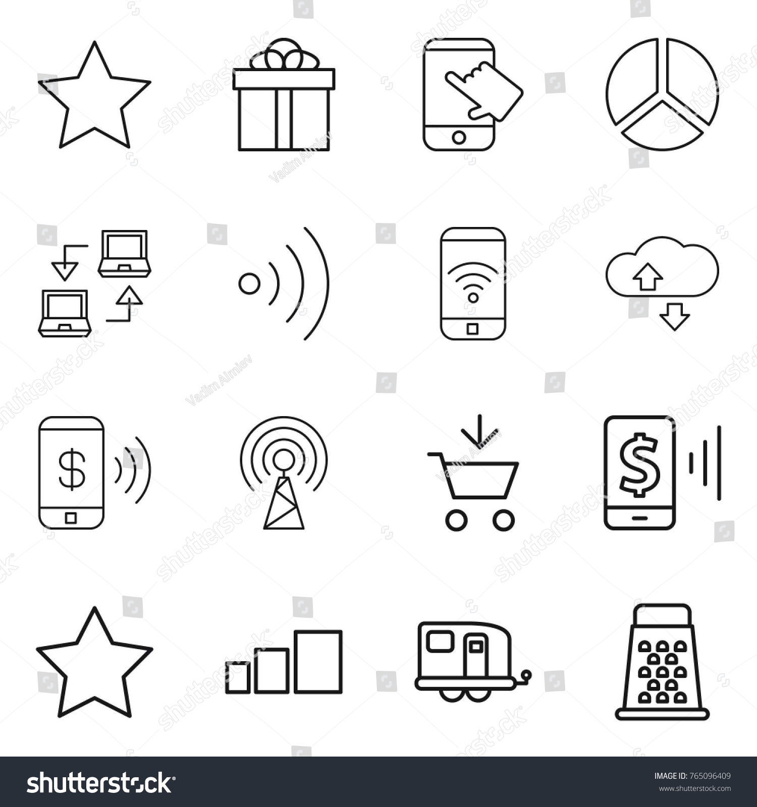 Touch Diagram Switch Circuit Thin Line Icon Set Star Gift Stock Vector Royalty Free 765096409 Rh Shutterstock Com Lamp