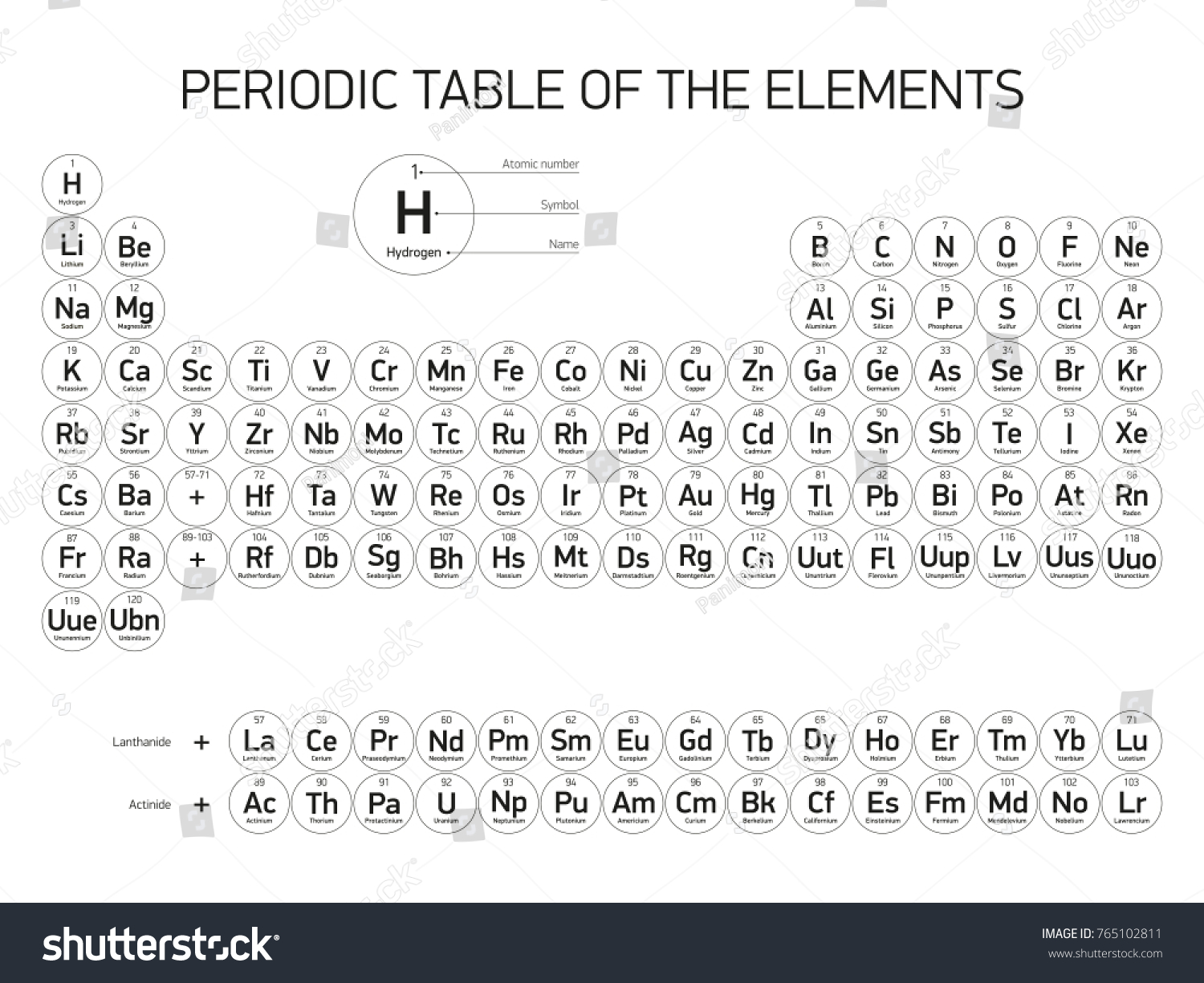 Periodic table elements vector design extended stock vector periodic table of the elements vector design extended version new elements black gamestrikefo Image collections