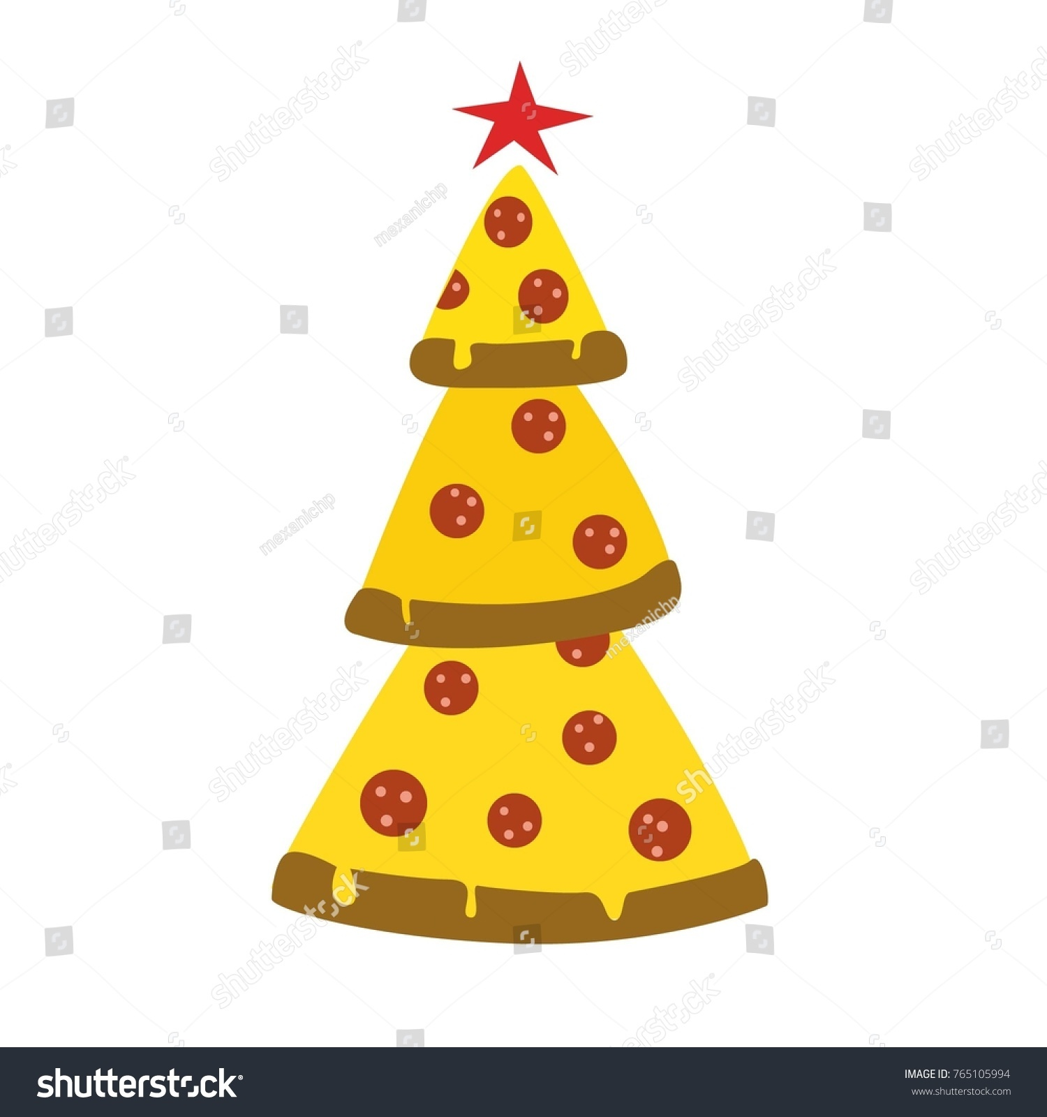 Jokes Images Christmas Tree Pizza Stock Vector (Royalty Free ...