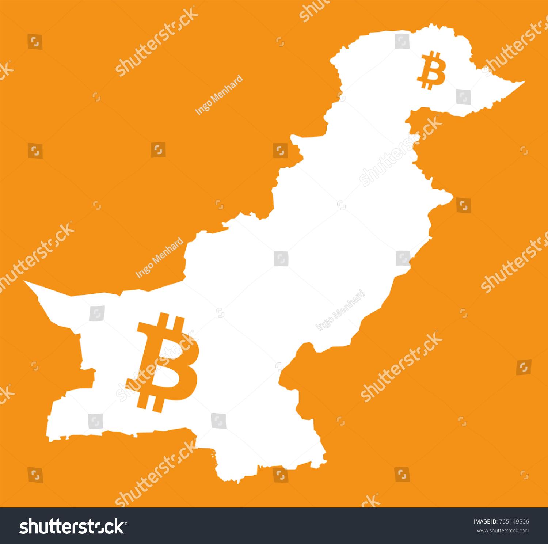 Pakistan map bitcoin crypto currency symbol stock vector 765149506 pakistan map with bitcoin crypto currency symbol illustration biocorpaavc